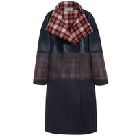 玛百莉 女士格纹长款外套