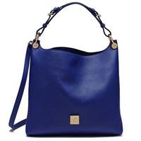 玛百莉 女士蓝色简约手提包