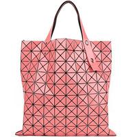 三宅一生 粉色三角拼接女士手提包