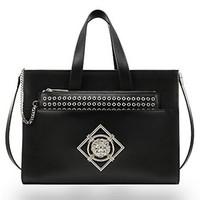范思哲Versace 经典Logo铆钉手提包