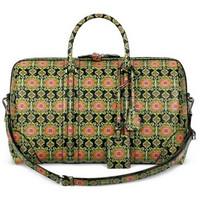 纪梵希Givenchy 绿色地毯印花皮革旅行包