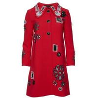 Marc Jacobs 女士长款绣花羊毛外套
