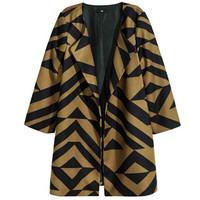 H&M 女士几何图案印花大衣