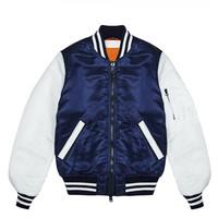 川久保玲 海军蓝色短款拼色夹克