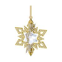 施华洛世奇Swarovski 金色圣诞星星挂饰