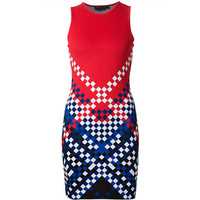 Alexander Wang 红色格纹连衣裙