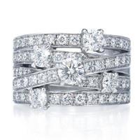 海瑞温斯顿 crossover群钻镶嵌戒指