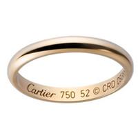 卡地亚Cartier 新款女士18K金戒指婚戒