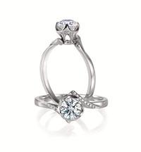 Forevermark永恒印记心悦系列单颗美钻戒指密镶款