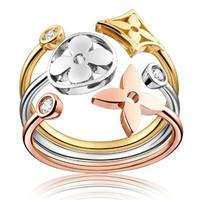 路易威登 Idylle Blossom 3色金镶钻戒指