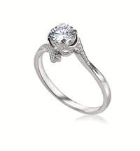 Forevermark永恒印记心悦系列单颗美钻戒指密镶款1