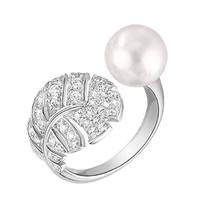 香奈儿Chanel 白18K金戒指