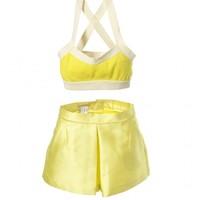 SHIATZY CHEN 黄色短裤内衣套装