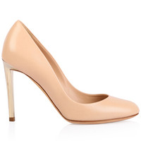 迪奥Dior 裸粉色女士牛皮高跟鞋