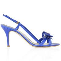 迪奥Dior 蓝色牛皮材质高跟鞋