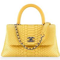 香奈儿Chanel 蟒蛇皮纹款女士包