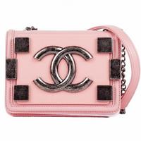 香奈儿Chanel 粉红色小号斜挎包