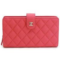 香奈儿Chanel CC经典菱格小牛皮长款钱包