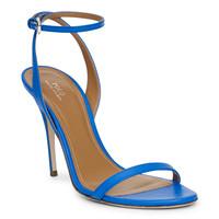 拉夫·劳伦(Ralph Lauren)蓝色简约皮带细高跟鞋