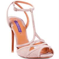 拉夫·劳伦(Ralph Lauren)粉色超细鱼嘴高跟鞋