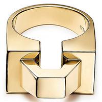 蒂芙尼Tiffany 方块戒指