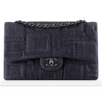 香奈儿Chanel 刺绣丹宁链条包