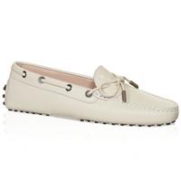 Tod's 真皮白色豆豆鞋