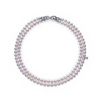 御木本Mikimoto 18K黄金钻石珍珠项链