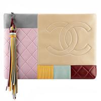 香奈儿Chanel 羊皮拼接随身包