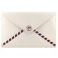 香奈儿Chanel 羊皮白色心信封包