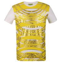 范思哲Versace 男士金色时尚T恤
