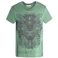 范思哲Versace 男士花豹图案T恤