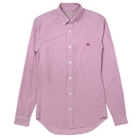 博柏利Burberry 棉质混纺男仕长袖衬衫