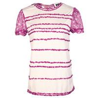 杜嘉班纳  桑蚕丝混纺女士短袖T恤