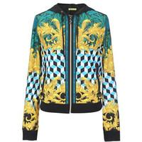 范思哲Versace 涤纶混纺短外衣夹克