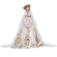 迪士尼 限量珍藏版仿真灰姑娘婚礼装人偶