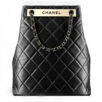 香奈儿Chanel 小羊皮与淡金抽绳包