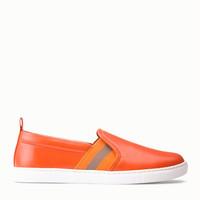 巴利Bally 火焰橙色平底鞋