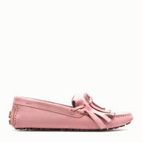 巴利Bally 粉色麂皮平底鞋
