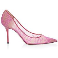 Jimmy Choo 蕾丝花卉图案高跟鞋