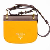 普拉达Prada Pionnière小牛皮手袋