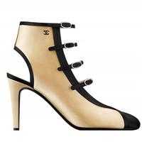 香奈儿Chanel 女士丝缎高跟凉鞋