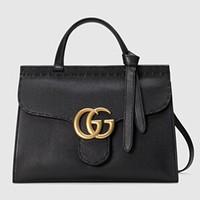 古驰 GG Marmont 经典皮革手提包