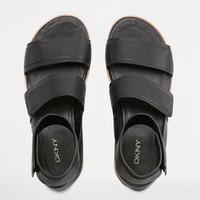 DKNY 坡跟绑带凉鞋