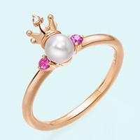 周生生 18K黄金Akoya珍珠戒指