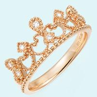 周生生 18K黄金钻石戒指