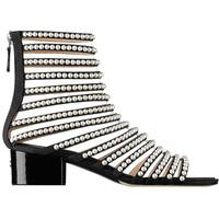 香奈儿Chanel 女士粗跟镂空凉鞋