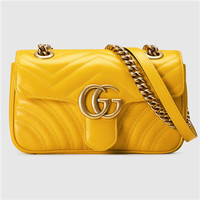 古驰 GG Marmont 绗缝迷你手袋