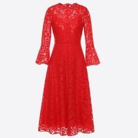 华伦天奴(Valentino)重磅蕾丝连衣裙