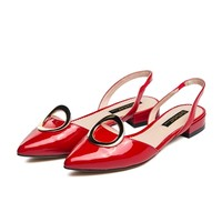 ST&SAT牛漆皮浅口鞋